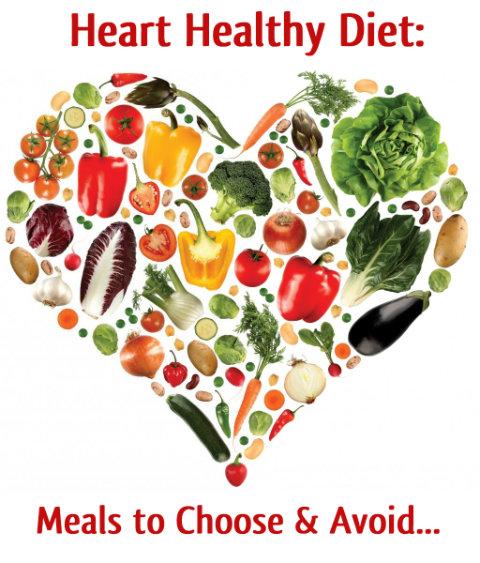 Heart healthy diet: studies, meals to choose & avoid ...